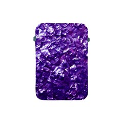 Natural Shimmering Purple Amethyst Mother of Pearl Nacre Apple iPad Mini Protective Soft Cases