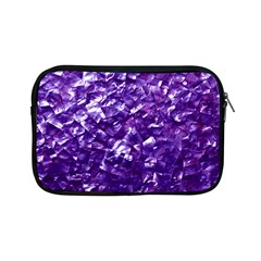 Natural Shimmering Purple Amethyst Mother of Pearl Nacre Apple iPad Mini Zipper Cases
