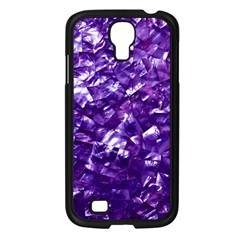 Natural Shimmering Purple Amethyst Mother of Pearl Nacre Samsung Galaxy S4 I9500/ I9505 Case (Black)
