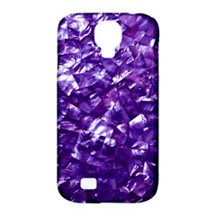 Natural Shimmering Purple Amethyst Mother of Pearl Nacre Samsung Galaxy S4 Classic Hardshell Case (PC+Silicone)