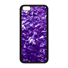 Natural Shimmering Purple Amethyst Mother of Pearl Nacre Apple iPhone 5C Seamless Case (Black)