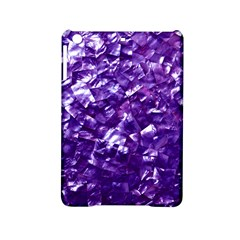 Natural Shimmering Purple Amethyst Mother of Pearl Nacre iPad Mini 2 Hardshell Cases