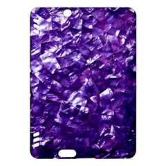 Natural Shimmering Purple Amethyst Mother of Pearl Nacre Kindle Fire HDX Hardshell Case