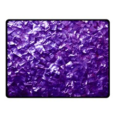 Natural Shimmering Purple Amethyst Mother of Pearl Nacre Double Sided Fleece Blanket (Small)
