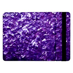 Natural Shimmering Purple Amethyst Mother of Pearl Nacre Samsung Galaxy Tab Pro 12.2  Flip Case