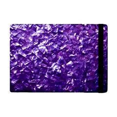 Natural Shimmering Purple Amethyst Mother of Pearl Nacre iPad Mini 2 Flip Cases