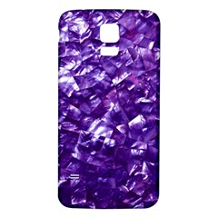 Natural Shimmering Purple Amethyst Mother of Pearl Nacre Samsung Galaxy S5 Back Case (White)
