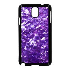Natural Shimmering Purple Amethyst Mother of Pearl Nacre Samsung Galaxy Note 3 Neo Hardshell Case (Black)