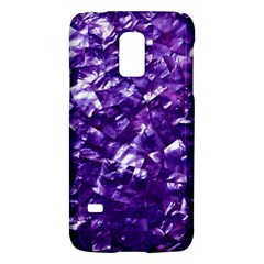 Natural Shimmering Purple Amethyst Mother of Pearl Nacre Galaxy S5 Mini