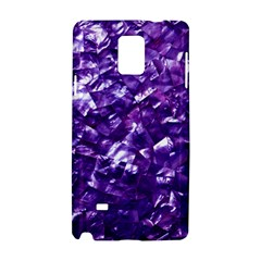 Natural Shimmering Purple Amethyst Mother of Pearl Nacre Samsung Galaxy Note 4 Hardshell Case
