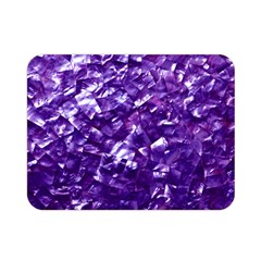 Natural Shimmering Purple Amethyst Mother of Pearl Nacre Double Sided Flano Blanket (Mini)