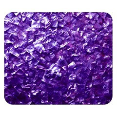 Natural Shimmering Purple Amethyst Mother of Pearl Nacre Double Sided Flano Blanket (Small)