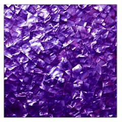 Natural Shimmering Purple Amethyst Mother of Pearl Nacre Large Satin Scarf (Square)
