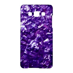 Natural Shimmering Purple Amethyst Mother of Pearl Nacre Samsung Galaxy A5 Hardshell Case