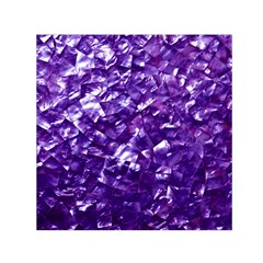 Natural Shimmering Purple Amethyst Mother of Pearl Nacre Small Satin Scarf (Square)