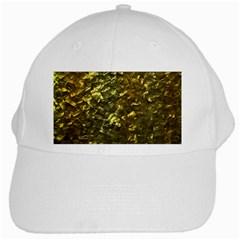 Bright Gold Mother of Pearl Nacre Pattern White Cap