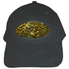 Bright Gold Mother of Pearl Nacre Pattern Black Cap