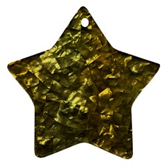 Bright Gold Mother of Pearl Nacre Pattern Ornament (Star)