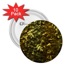 Bright Gold Mother of Pearl Nacre Pattern 2.25  Buttons (10 pack)