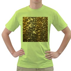 Bright Gold Mother of Pearl Nacre Pattern Green T-Shirt
