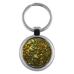 Bright Gold Mother of Pearl Nacre Pattern Key Chains (Round)