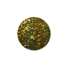 Bright Gold Mother of Pearl Nacre Pattern Golf Ball Marker