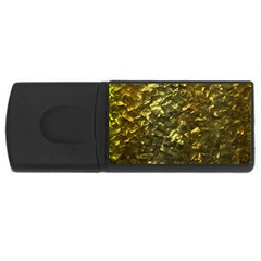 Bright Gold Mother of Pearl Nacre Pattern USB Flash Drive Rectangular (1 GB)