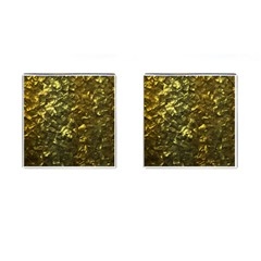 Bright Gold Mother of Pearl Nacre Pattern Cufflinks (Square)