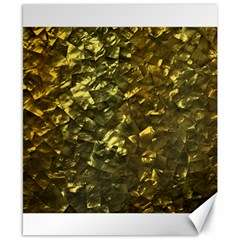 Bright Gold Mother of Pearl Nacre Pattern Canvas 8  x 10