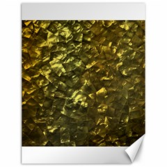Bright Gold Mother of Pearl Nacre Pattern Canvas 12  x 16