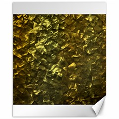 Bright Gold Mother of Pearl Nacre Pattern Canvas 11  x 14