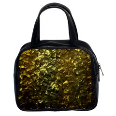 Bright Gold Mother of Pearl Nacre Pattern Classic Handbags (2 Sides)
