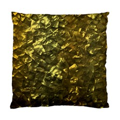 Bright Gold Mother of Pearl Nacre Pattern Standard Cushion Case (One Side)