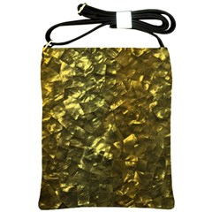Bright Gold Mother Of Pearl Nacre Pattern Shoulder Sling Bags