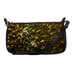 Bright Gold Mother of Pearl Nacre Pattern Shoulder Clutch Bags