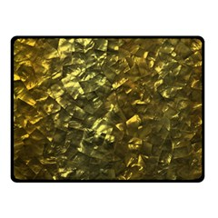 Bright Gold Mother of Pearl Nacre Pattern Fleece Blanket (Small)