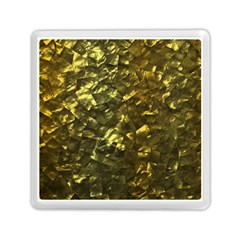 Bright Gold Mother of Pearl Nacre Pattern Memory Card Reader (Square)