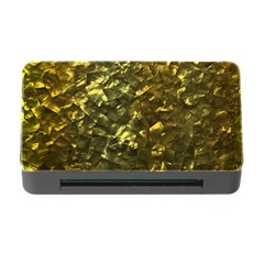 Bright Gold Mother of Pearl Nacre Pattern Memory Card Reader with CF
