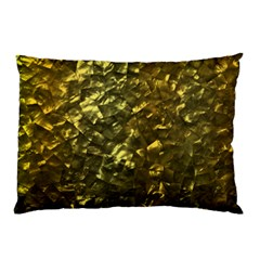 Bright Gold Mother of Pearl Nacre Pattern Pillow Case (Two Sides)