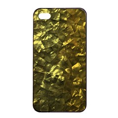 Bright Gold Mother of Pearl Nacre Pattern Apple iPhone 4/4s Seamless Case (Black)