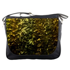 Bright Gold Mother of Pearl Nacre Pattern Messenger Bags