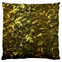 Bright Gold Mother of Pearl Nacre Pattern Large Cushion Case (One Side)