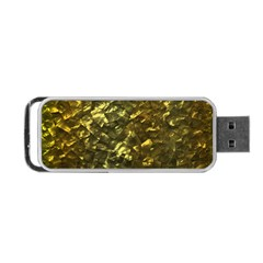 Bright Gold Mother of Pearl Nacre Pattern Portable USB Flash (One Side)