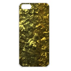 Bright Gold Mother of Pearl Nacre Pattern Apple iPhone 5 Seamless Case (White)