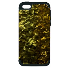 Bright Gold Mother of Pearl Nacre Pattern Apple iPhone 5 Hardshell Case (PC+Silicone)