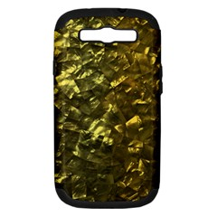 Bright Gold Mother of Pearl Nacre Pattern Samsung Galaxy S III Hardshell Case (PC+Silicone)