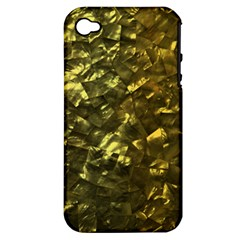 Bright Gold Mother of Pearl Nacre Pattern Apple iPhone 4/4S Hardshell Case (PC+Silicone)