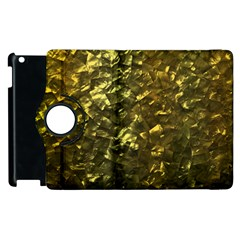 Bright Gold Mother of Pearl Nacre Pattern Apple iPad 2 Flip 360 Case
