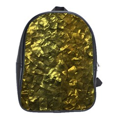 Bright Gold Mother of Pearl Nacre Pattern School Bags (XL)