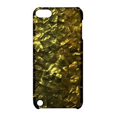Bright Gold Mother of Pearl Nacre Pattern Apple iPod Touch 5 Hardshell Case with Stand